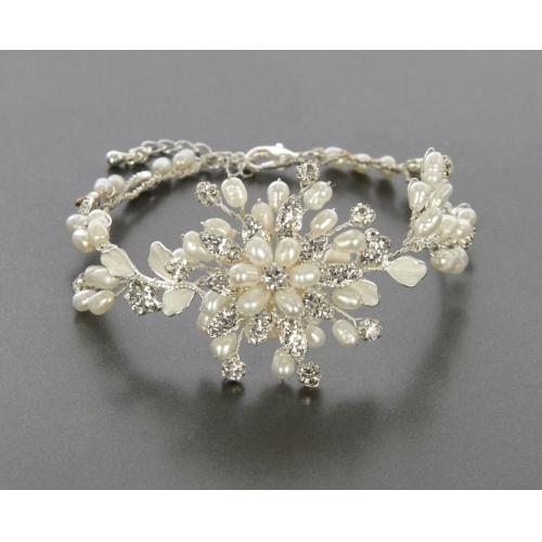 Wholesale N35 Floral bracelet Silver fashionunic