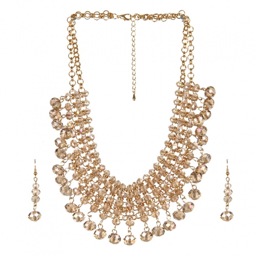 Wholesale N36E Solid beads necklace set CHAM AB