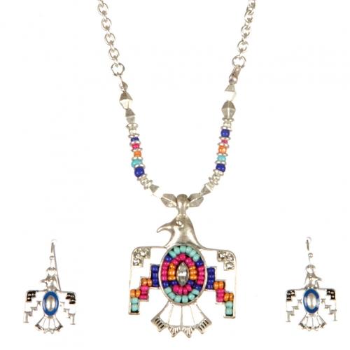 Wholesale L22E Thunderbird pendant necklace set WSMT