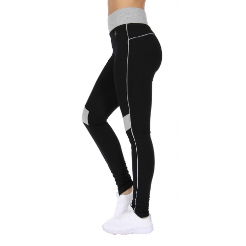 wholesale H15 Two tone knee active pants Coral/Pink