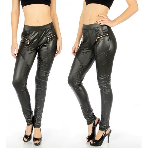 wholesale Zipped pastel leggings Black fashionunic