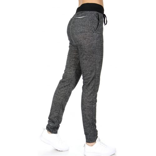 Wholesale E06 Coco limon long cotton jogger pants H.Black