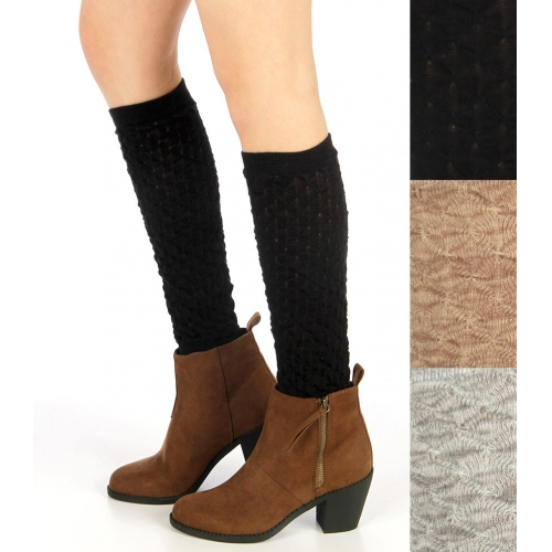 wholesale Two tone textured ruffled cotton boot toppers