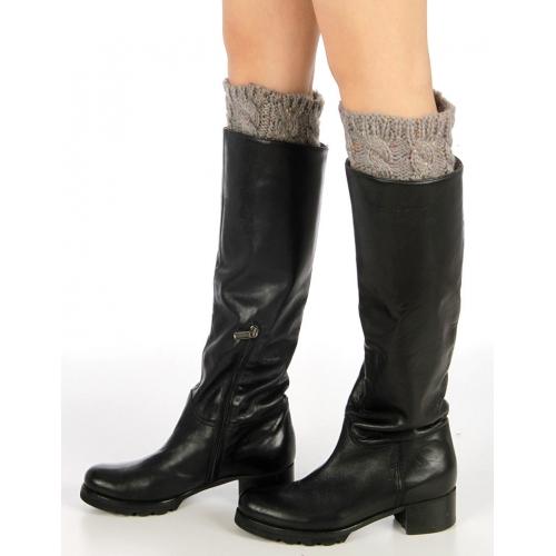 Wholesale BX00 Multi spacedye knit boot toppers L.Grey
