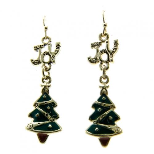 wholesale JOY Christmas tree drop earrings AG