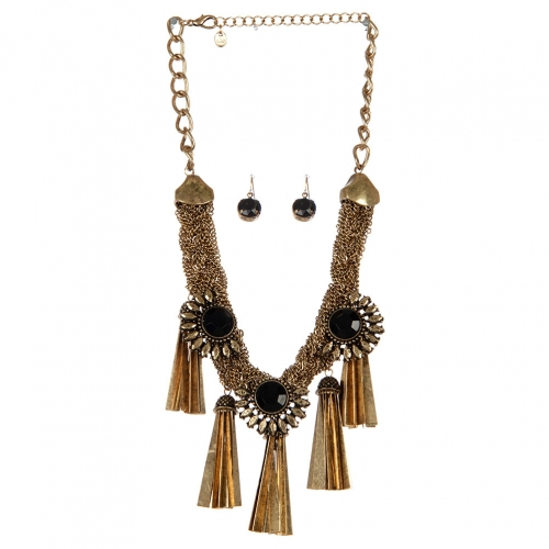 Wholesale Statement drop neckace set RGBK fashionunic