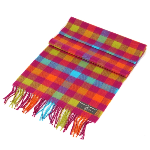 Wholesale Faded stripe cashmere feel scarf Purple