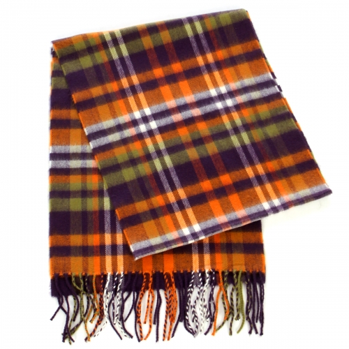 Wholesale Multicolored striped cashmere feel scarf