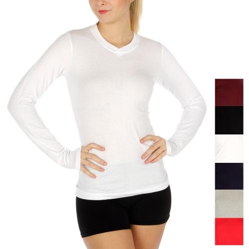 wholesale Long sleeve cottonblend v neck 6 pcs.