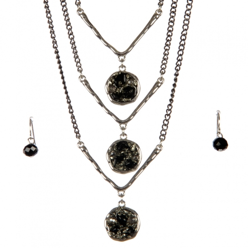 wholesale Layered stone long necklace set RBK