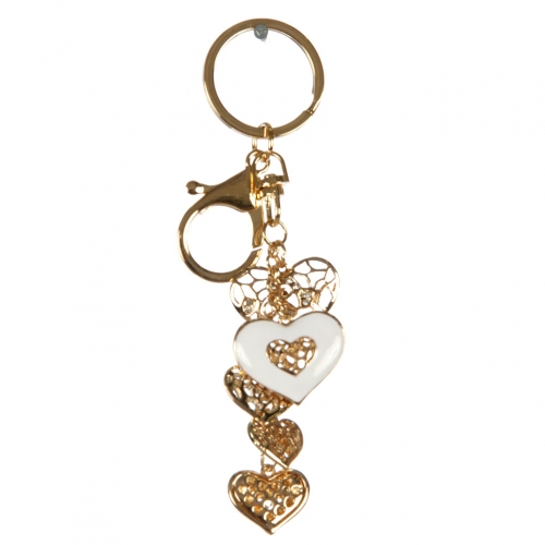 wholesale Cutout metal hearts keychain fashionunic