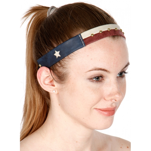 wholesale Faux leather Texas flag headband GMR fashionunic