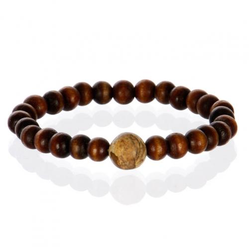 wholesale Wooden beads stretch bracelet BM1