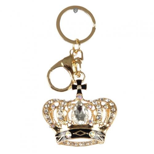 wholesale Studded crown with cross keychain G fashionunic
