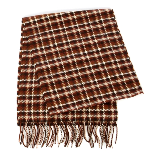 wholesale O70 Plaid cashmere feel scarf 71601 Pink