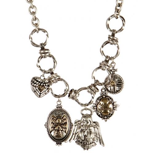 wholesale Metal angel blessing necklace set TT fashionunic