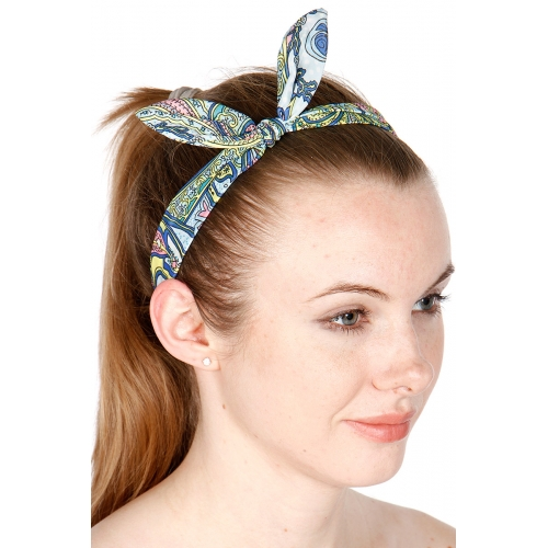 wholesale Paisley print headband set 3 pcs Multi 1014