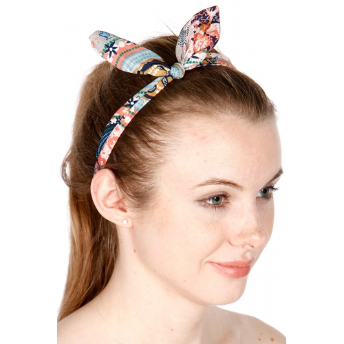 wholesale Flower knot headband set 3 pcs Multi 1015