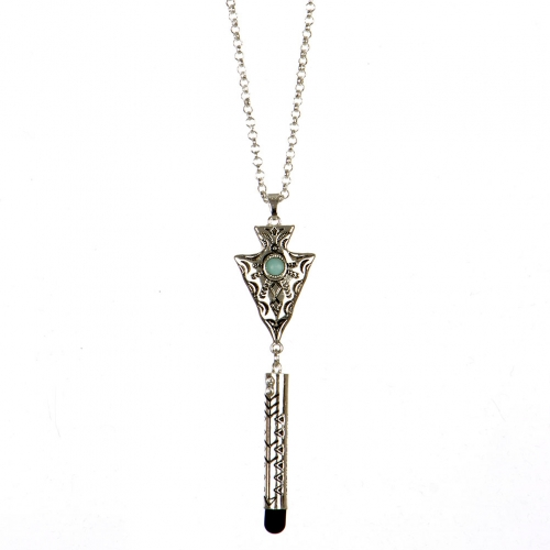 wholesale Long screen touch tip arrow necklace AS