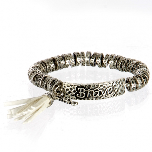 wholesale Metal brave tassel stretch bracelet SB/IV