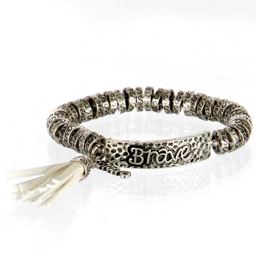 wholesale Metal brave tassel stretch bracelet SB/IV