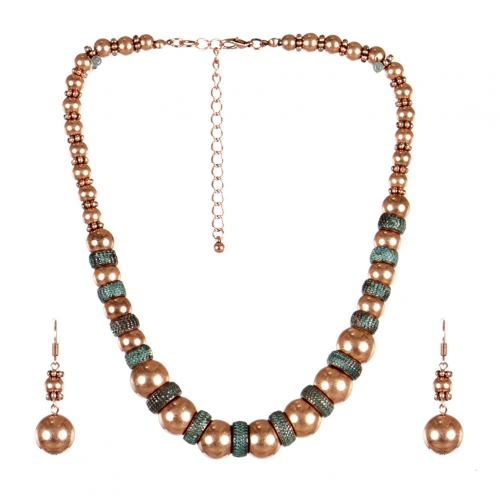 wholesale Metal circle tribal necklace set OG fashionunic