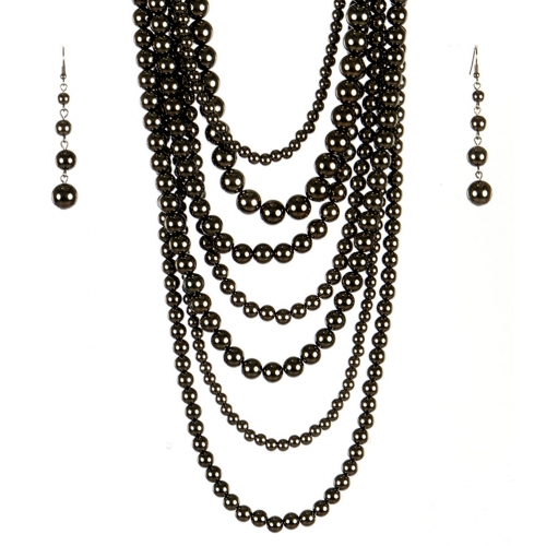 wholesale Long chunky pearl necklace set HEM fashionunic