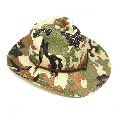 wholesale Floral cowboy hat Green/Brown fashionunic