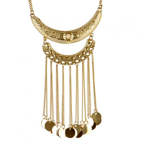 wholesale Metal coin drop necklace GD WT