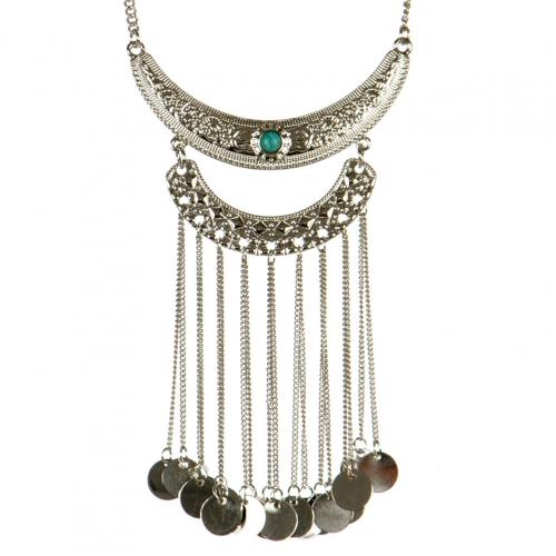 wholesale Metal coin drop necklace RH TQ