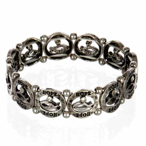 wholesale Ichthys hope metal bracelet SB