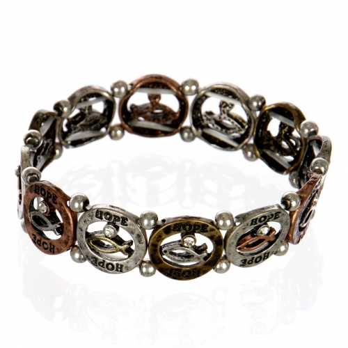 wholesale Ichthys hope metal bracelet MTB