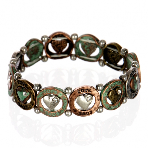 wholesale Heart love metal bracelet PTMT