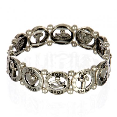 wholesale Ichthys and cross metal bracelet SB