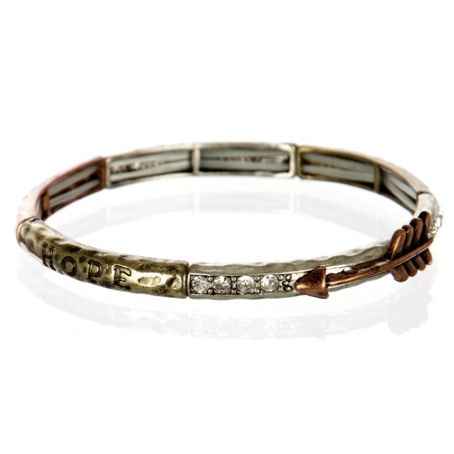 wholesale Thin hammered metal bracelet SBMTCL