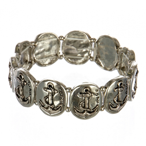 wholesale Metal anchor and hope stretch bracelet RHSB