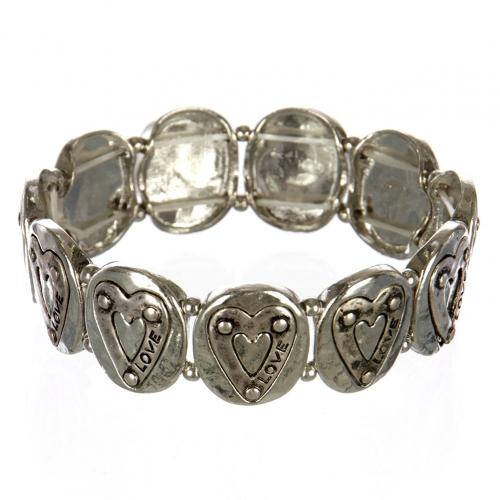 wholesale Metal heart love stretch bracelet RHSB