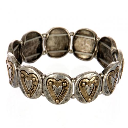 wholesale Metal heart love stretch bracelet SBRG