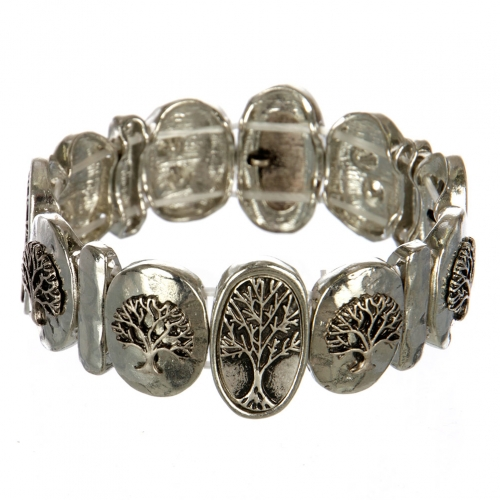 wholesale Metal tree of life stretch bracelet RHSB