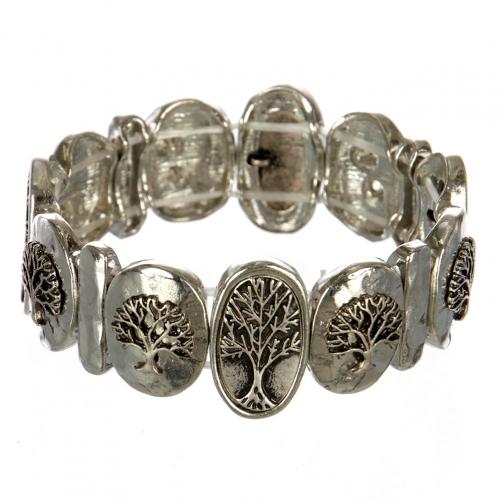 wholesale Metal tree of life stretch bracelet RHSB