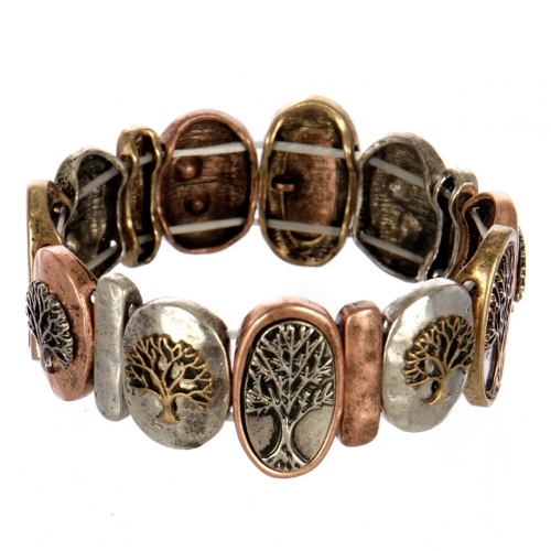 wholesale Metal tree of life stretch bracelet MTB