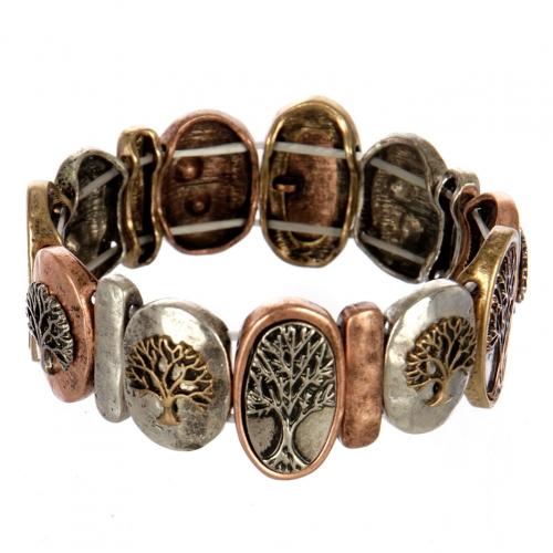 wholesale Metal tree of life stretch bracelet MTB