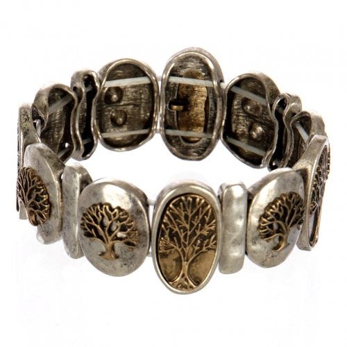 wholesale Metal tree of life stretch bracelet SBRG