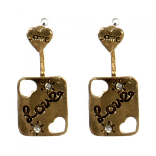 wholesale Metal love cutout earrings stud front GDCL