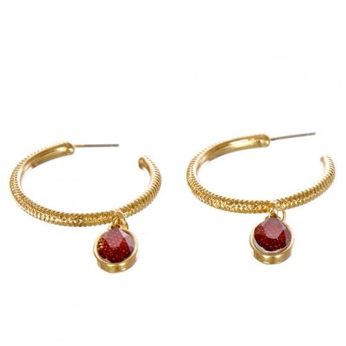 wholesale Metal hoop earrings with stone WGBND