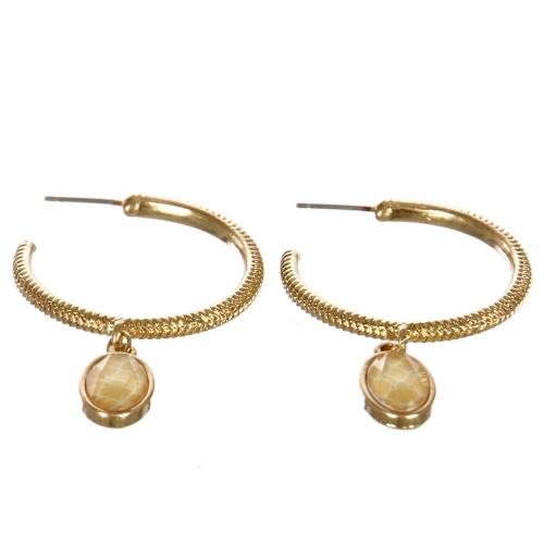wholesale Metal hoop earrings with stone WGIVY