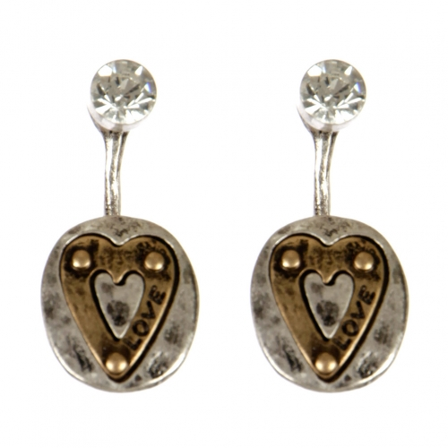 wholesale Metal love and stud front earrings SBG