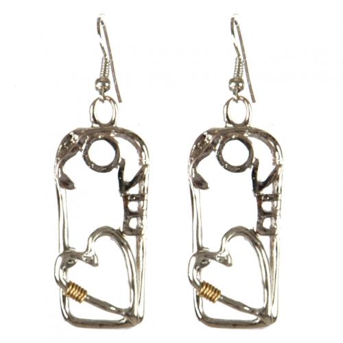 wholesale Metal cutout love dangling earrings RH