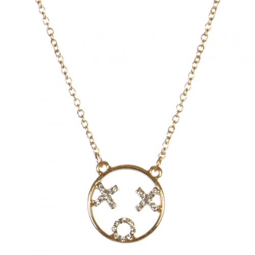 wholesale XOX emoji pendant necklace GDCR fashionunic