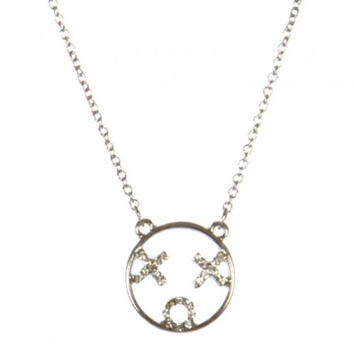 wholesale XOX emoji pendant necklace RHCR fashionunic